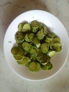 Zucchine liguri (trombette) e zenzero